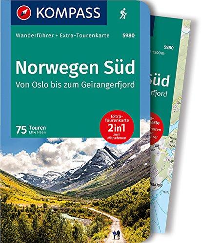 KOMPASS Wanderführer Norwegen Süd, Von Oslo bis zum Geirangerfjord: Wanderführer mit Extra-Tourenkarte 1:50.000-150.000, 75 Touren, GPX-Daten zum Download.