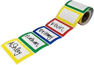 Shop4Mailers 彩色边框名称标签贴纸 8.89 cm x 6.99 cm 200 卷 1 Roll 多种颜色