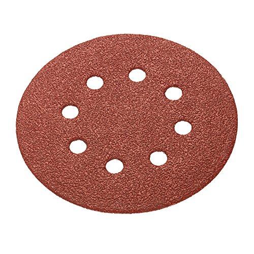 Connex com105820easy-Fix perforado para molinillos excéntrico Disco de lijado, marrón, 115mm/Tamaño K320, juego de 6piezas