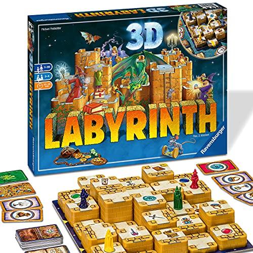 Ravensburger 26113 Labirinto 3D, Versione Italiana, Gioco da Tavolo per Bambini ed Adulti, Giocatori 2-4, Età Raccomandata 7+