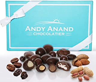 Andy Anand's Milk & Dark Chocolate Sugar Free Bridge Mix of Almonds, Coffee, Raisins, Peanuts 1 lb, Amazing Taste Gift Boxed & Greeting Card Birthday Valentine Day Christmas Holiday Gifts Mothers day
