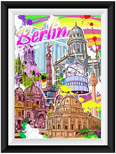 Berlin Streetart Poster Plakat für das Wohnzimmer Kunstdruck Bild - ungerahmt - INDIVIDUELLE GRÖßE tolle Geschenkidee mit Flair - Fine Art Print Leinwanddruck ab DIN A4 - 80x120 cm XXL