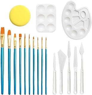 NUOBESTY Conjunto de Pincéis, com Bandejas de Tinta e Esponja para Pintura