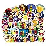 LZWNB Teletubbies Pegatina clásica nostálgica de Dibujos Animados Bonita Pegatina Impermeable para portátil Pegatina de Equipaje de Anime