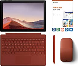"$1009 » Microsoft Surface Pro 7 2-in-1 12.3"" Touchscreen Tablet 2736x1824, 10th Gen i5, 8GB RAM, 128GB SSD, Quad-Core, USB-C, Win 10 w/Office 365 Personal, Type Cover, Arc Mouse, Surface Pen - Poppy Red"