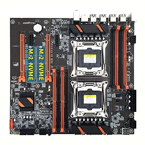 Riiai Placa base dual de la CPU con el procesador dual con la ranura dual M.2 8 DIMM DDR4