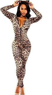 leopard print full bodysuit