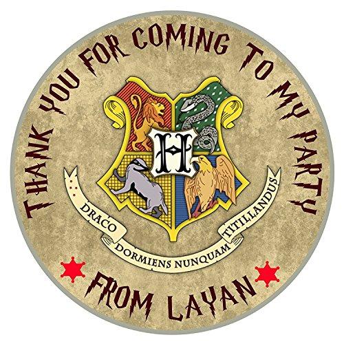 design buddies - Pegatinas Personalizables de Harry Potter, diseño de Escudo de Hogwarts de 50 mm, 2 cm, Etiquetas de Agradecimiento, Etiquetas de Agradecimiento para Venir a mi Fiesta DS1