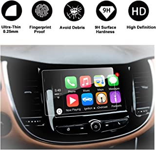 RUIYA TEMPERED GLASS Protector Compatible for 2017 2018 Trax MyLink 7-Inch In-Dash, HD Clear Car Navigation Screen Protective Film