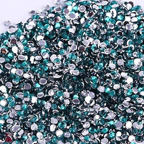 Vente En Gros 500pcs Cristal Rhinestones Flatback Acrylique Perles Nail Art Bleu Clair