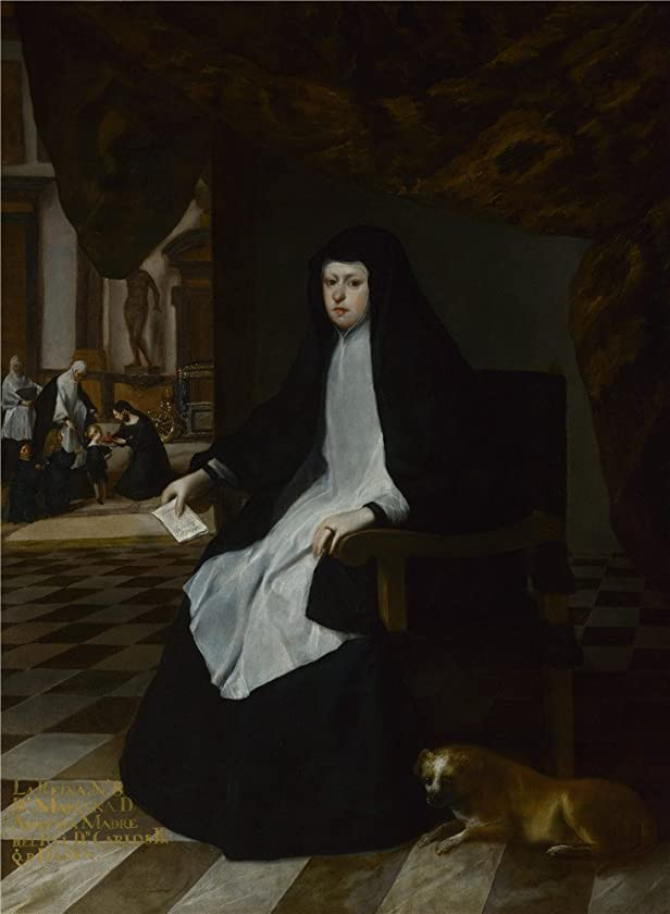 Oil Painting 'Juan Bautista Martinez Del Mazo Queen Mariana Of Spain In Mourning ' Printing On Perfect Effect Canvas , 12 X 16 Inch / 30 X 42 Cm ,the Best Living Room Gallery Art And Home Decoration And Gifts Is This Imitations Art DecorativeCanvas Prints