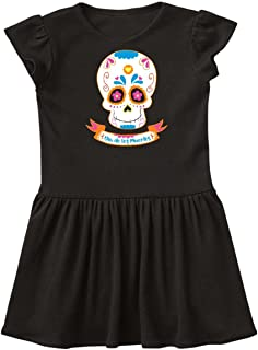 inktastic Day of The Dead Skull Toddler Dress