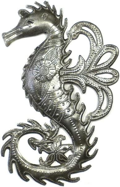 海马装饰海底生物墙艺术手工制作金属悬挂人物雕像当代雕塑现代口音