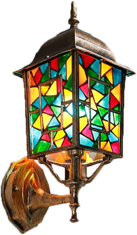 Bhmische wandleuchte auenleuchte kreative villa balkon gartenlampe wasserdichte wandleuchte gartenrestaurant wandleuchte, glasmalerei