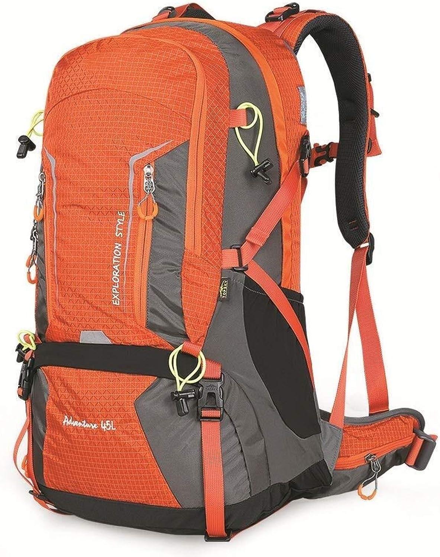AJZXHE Outdoor Bergsteigertasche Faltbarer Rucksack Mnner und Frauen faltbar tragen Camping im Freien Wanderrucksack (Farbe   A)