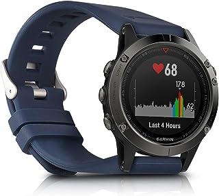 kwmobile Pulsera Compatible con Garmin Fenix 5 / Approach S60 - Brazalete de Silicona en Azul Oscuro sin Fitness Tracker