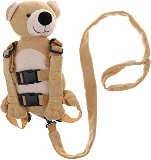 Prettyia Toddler Nursery & Travel Backpack Child Harness Bag with Safety Walking Reins - Bear, as described