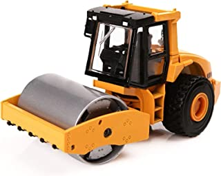 Simulation Single-Wheel Diecast Alloy Road Roller Toy 1:50 Alloy Roller Model Engineering Car, Articulated Dump Truck Meta...