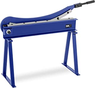 MSW Cizalla Manual Para Metal Guillotina MSW-HS800 (Longitud De Corte De 800 mm, Con Base Incluida, Para Chapa Con Espesor Máximo De 1,5 mm)