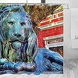 Argentina Buenos Aires Lezama Palace - Cortina de ducha de viaje con ganchos de poliéster (72 x 72 pulgadas)