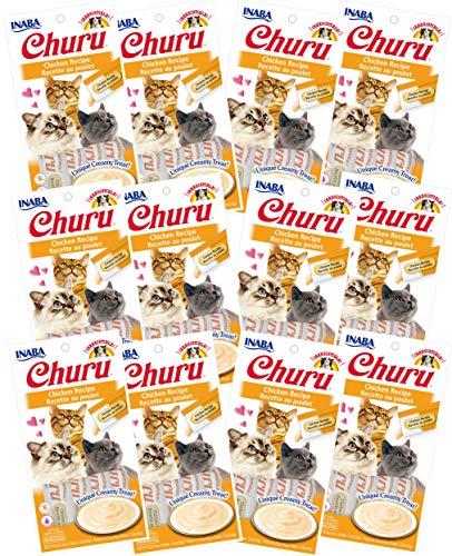 INABA Churu Chicken Recipe Lickable Creamy Purée Cat Treats 48 Tubes