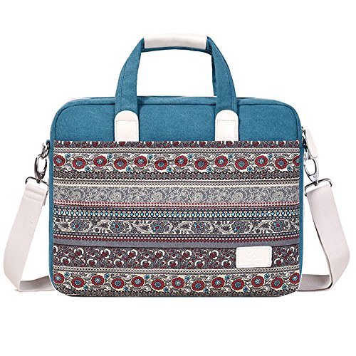 14 Pulgadas Estilo Bohemio Tela de Lona Funda Blanda Bolso Maletín para Ordenador Portátil/MacBook / MacBook Pro/MacBook Air/Acer / DELL Notebook Gris