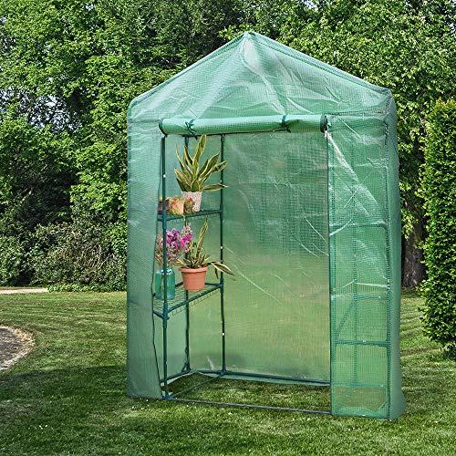 PowerTec Garden Foliengewächshaus, ca. 143 x 73 x 195 cm
