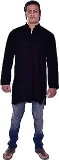 mens tunic black