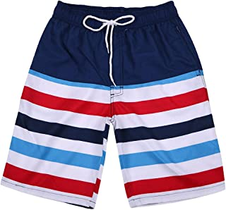 TOPUNDER Men Hawaiian Solid Trunks Quick Dry Beach Surfing Running Swimming Short Pant