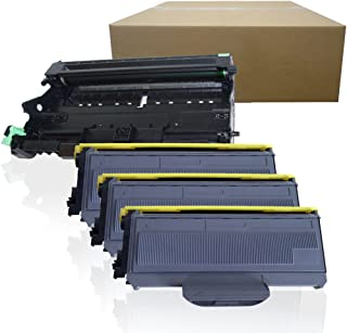 Inktoneram Compatible Toner Cartridges & Drum Replacement for Brother TN360 TN330 DR360 DR-360 TN-360 TN-330 HL-2140 HL-2170W DCP-7030 DCP-7040 MFC-7340 MFC-7345N MFC-7440N MFC7840W (Drum,3-Toner,4PK)