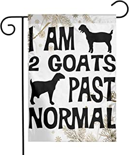 FQ#8FLAG I Am 2 Goats Past Normal Goat Welcome Family Party Flag Anniversary Home Garden Flag 12