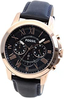 Fossil Grant Watch for Men - Analog Leather Band - FS4835.