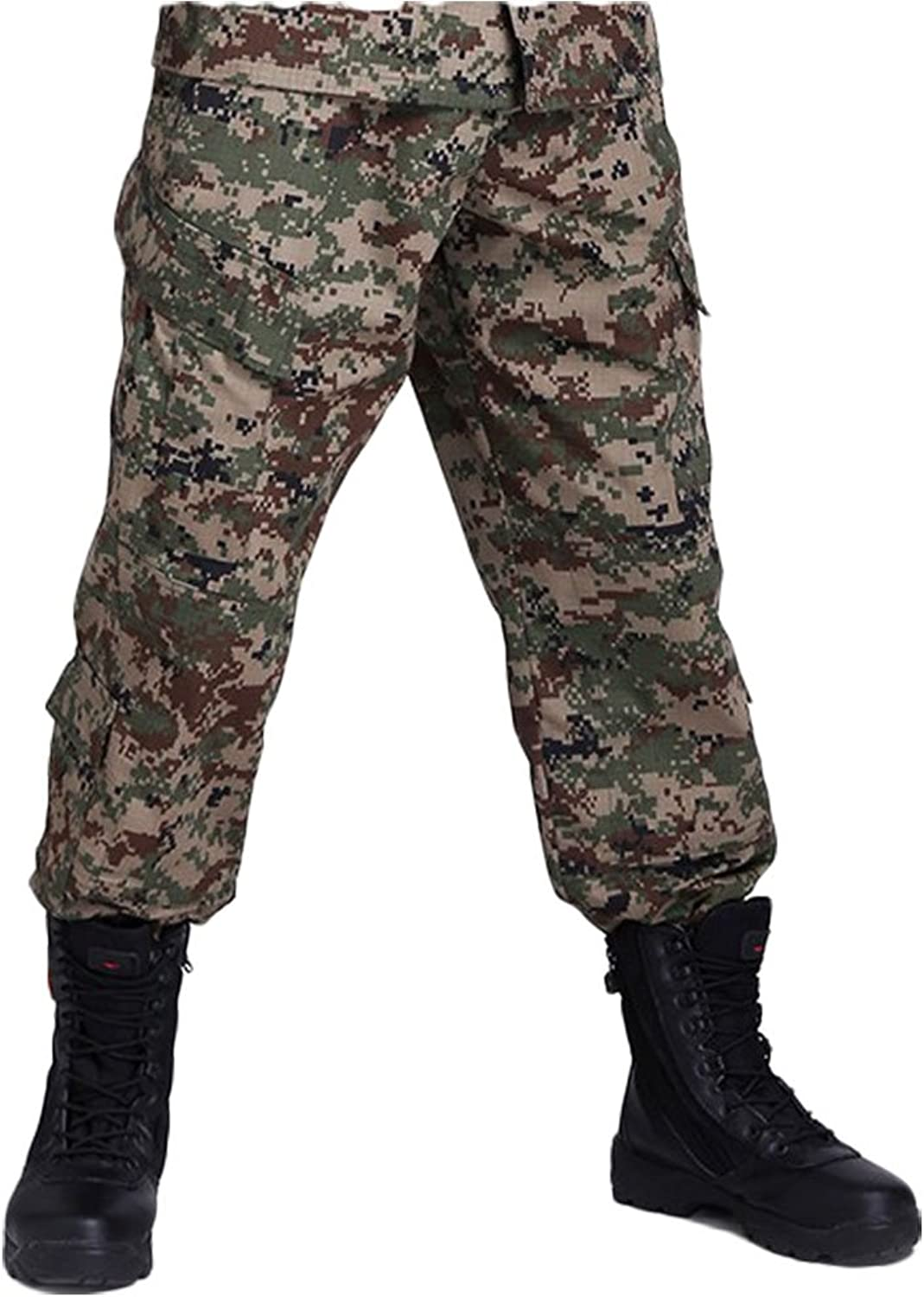 OSdream Outdoor CamoA Tactical Suit Clothing Pants, Battle Strike Uniform Suit Clothing Pants, Camping Hiking Hunting Paintball Camo Suit Clothing Pants