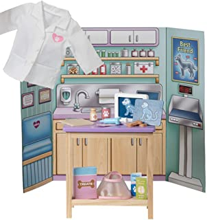 """Adora Amazing World """"Veterinary Clinic Wooden Play Set"""" - 18 Piece Accessory Pretend Play Set for 18 Inch Dolls (Amazon Ex..."""