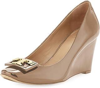45e040adfcfc Tory Burch Women s Jill 75Mm Pump Patent Leather Pump Heel Shoes 52822 Tory  Beige
