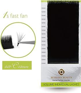 BEYELIAN Easy Fan Lashes 1s Fast Fan Lashes Flexibly Create XD Volume Eyelash Extensions Individual Eyelashes 0.07mm C Cur...