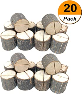 20pcs Wood Table Numbers Holder Wood Place Card Holder Party Wedding Table Name Card Holder Memo Note Card