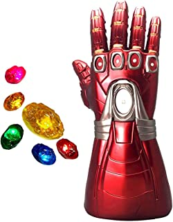 XXF-Iron Man Infinity Gauntlet,Iron Man Infinity Glove LED with Removable Magnet Infinity Stones-3 Flash mode.