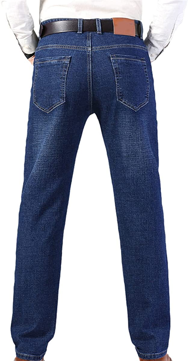 Jeans Fall Cotton Men's Stretch Classic Fashion Casual Business Loose Pants