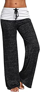 BOZEVON Women's Yoga Pants Stretchy Workout Pants High Waist Sports Trousers Tights Leggings for Yoga, Pilates, Running an...