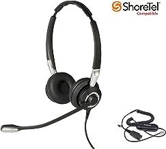 ShoreTel Certified Jabra BIZ 2400II DUO UNC Headset Bundle for Shoretel Phones: ShoreTel IP100 IP212K IP230 IP230G IP265 IP420 IP480 IP480G IP485 IP530 IP560 IP560G IP565G 565 565G IP655