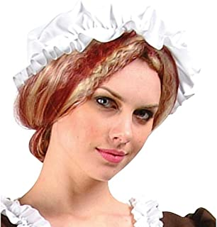 RG Costumes Poplin Mob Cap, White