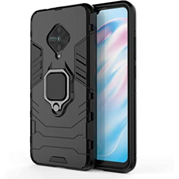 Designerz Hub Covers and Cases for Vivo S1 Pro Case Back Cover Dual Layer Armor Defender Full Body Protective + PC Hybrid Kickstand Back Case Cover Designed for Vivo S1 Pro