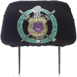 New Omega Phi Psi Fraternity Headrest Cover - Black