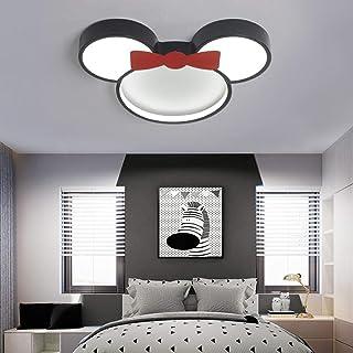 Habitación para niños Lámparas de techo LED 6000K luz blanca Sombra Metal Acrílico Disney Lámpara de techo Minnie Niño Guardería Dormitorio Habitación de estudio Lámpara interior,Ø50cm~24w