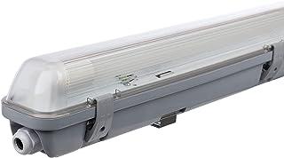 Müller-Licht–20800189Lámpara LED para entornos húmedos IP65Aqua de Promo, A+, 1x 9W LED tubo, 900lm, plástico, Gris, 65,5x 7.2x 8.6cm