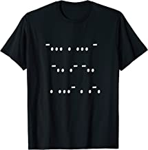 Mens Morse Code Best Dad Ever Tshirt Great gift idea