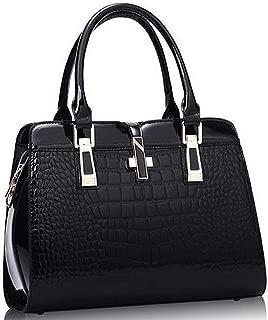 Elegant Alligator Leather Women Handbag Shoulder Bags Cross Lock Design Lady Tote Handbag