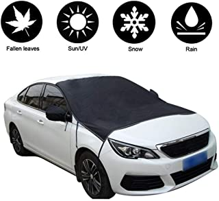 Car Snow Cover,Double Side Design Sun Shade Winter Cover for All Season, Waterproof Frost Guard Windshield Protector for Car, Truck, SUV