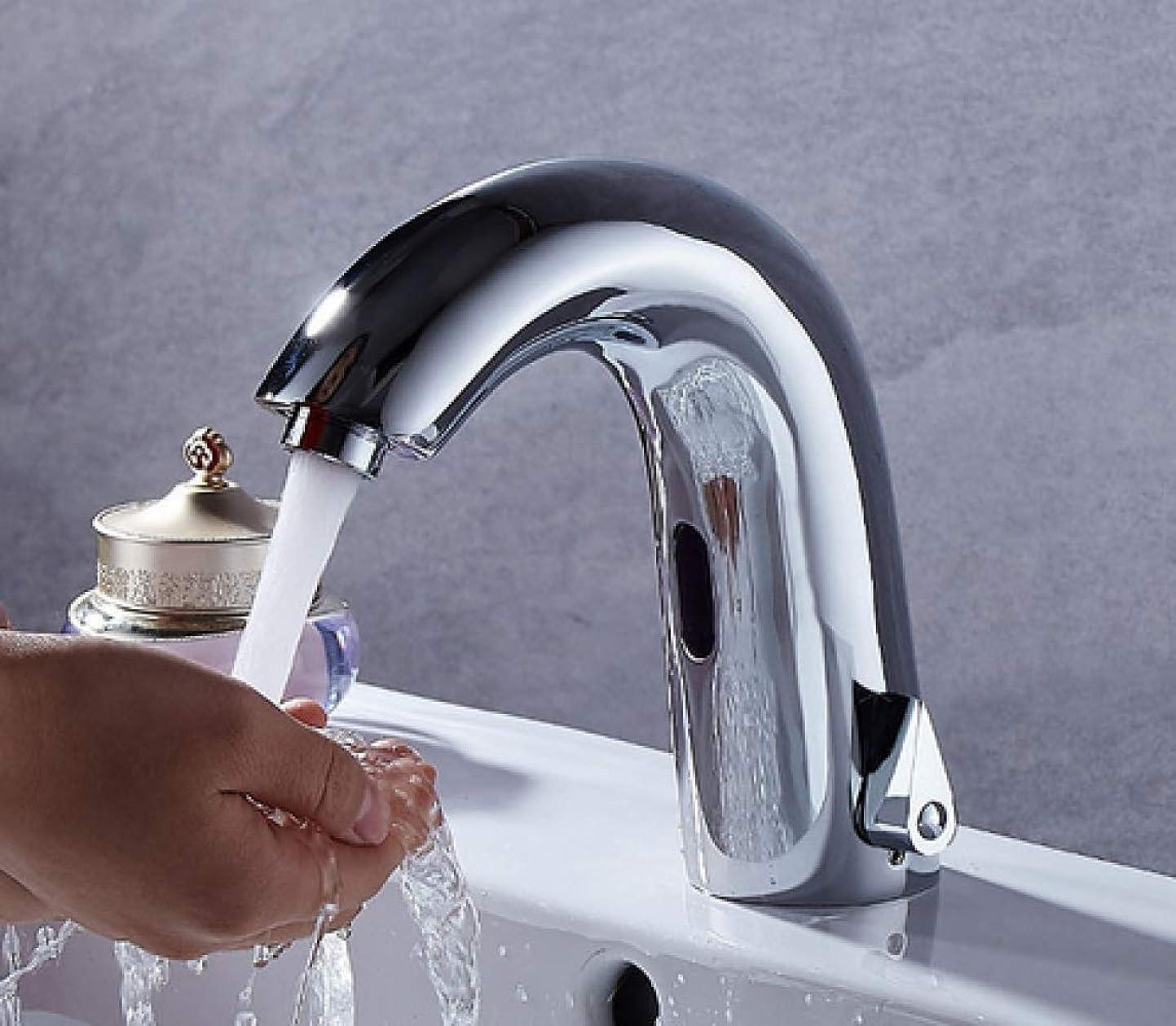 旅行糞息子ZT-TTHG すべての銅温水と冷水自動水栓公衆トイレ商業スーパー洗面台洗面蛇口